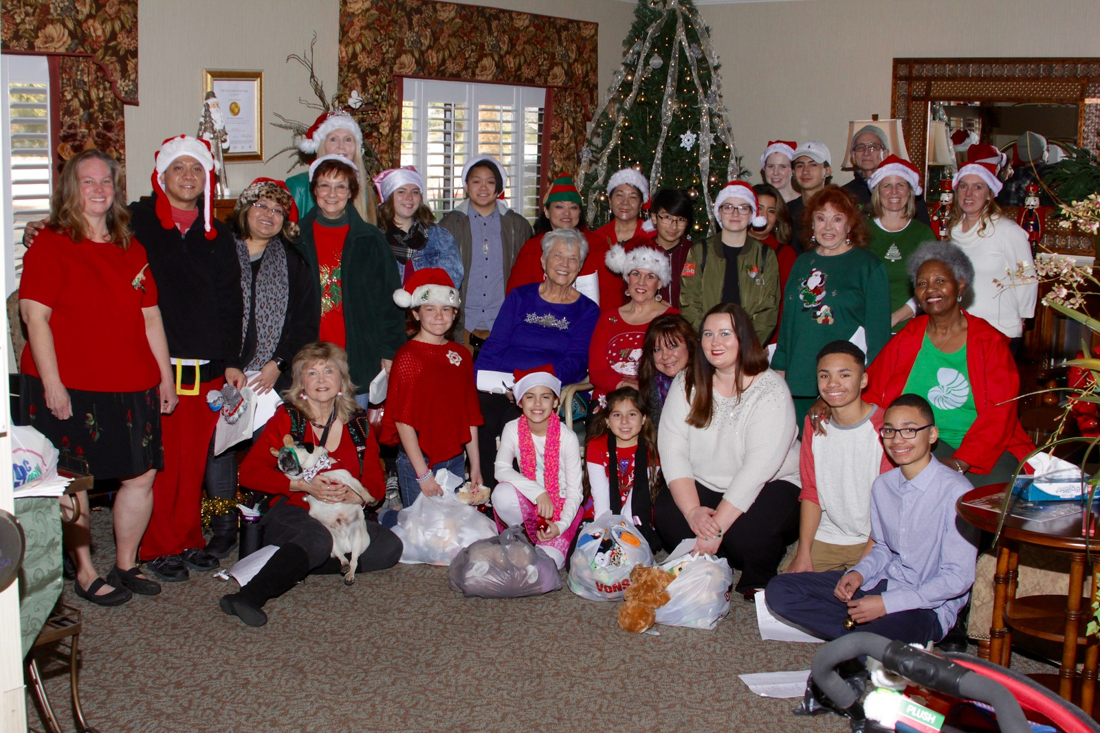 After Christmas Caroling at Senior Assisted Living facilities